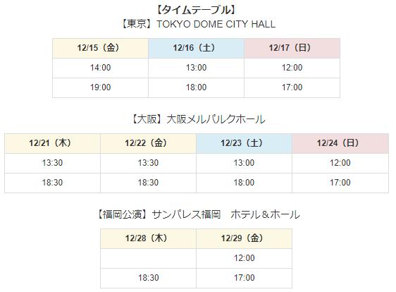 ジョ伝タイムテーブル